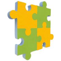 4x Basotect ® G+ Schallabsorber - PUZZLE - Akustik Element Schalldämmung - Diverse Farben (Sonnengelb+Grün)