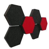 6 Absorber Wabenform Colore ANTHRAZIT + BORDEAUX / je 2 Stück 300 x 300 x 30/50/70mm