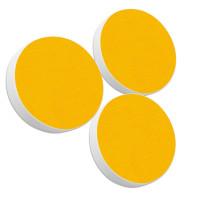 Basotect ® G+ / 3x Ronde Kreis Durchmesser 400 mm / 50 mm dick (Sonnengelb)