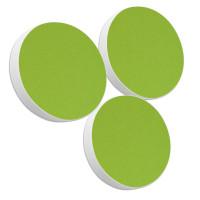Basotect ® G+ / 3x Ronde Kreis Durchmesser 400 mm / 50 mm dick (Hellgrün)