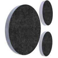3x Basotect ® G+ / Ronde Kreis Durchmesser 400 mm / 50 mm dick (Sonnengelb + Anthrazit)