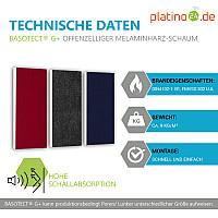 Schallabsorber-Set Colore aus Basotect G+ < 3 Elemente > Anthrazit + Nachtblau + Bordeaux