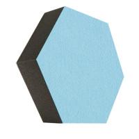 6 Absorber Wabenform Colore LIGHTBLUE / je 300 x 300 x 70mm