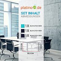 Schallabsorber-Set Colore aus Basotect G+ < 3 Elemente > Nachtblau + Türkis