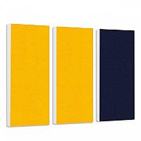 Basotect G+ Schallabsorber-Set Colore < 3 Elemente > Sonnengelb + Nachtblau