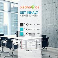 Schallabsorber-Set Colore aus Basotect G+ < 3 Elemente > Türkis + Anthrazit