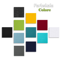 Schallabsorber-Set Colore aus Basotect G+ < 3 Elemente > Anthrazit + Sonnengelb