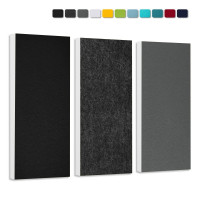 Basotect G+ Schallabsorber-Set Colore  3 Elemente  Türkis + Nachtblau + Sonnengelb