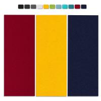 Basotect G+ Schallabsorber-Set Colore < 3 Elemente > Nachtblau + Bordeaux + Sonnengelb