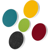 5x Basotect ® G+ / Ronde Kreis Ø55 cm + Kreis Ø 40 cm Multicolore