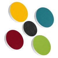 5x Basotect ® G+ / Ronde Kreis Ø55 cm + Kreis Ø40 cm Multicolore