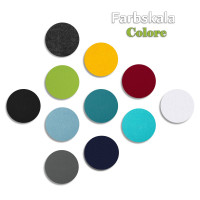 6 Akustik Schallabsorber aus Basotect ® G+ / Kreis Multicolore-Set 20