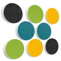 8x Basotect ® G+ / Ronde Kreis Ø55 cm Multicolore