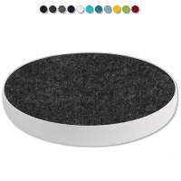 Basotect ® G+ / 1x Ronde Kreis Durchmesser 400 mm / 50 mm dick (Anthrazit)