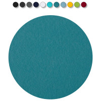 1 Akustik Schallabsorber aus Basotect ® G+ / Kreis 55 cm Multicolore (Petrol)