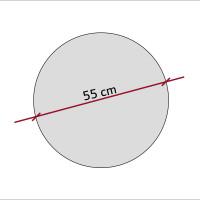 1 Akustik Schallabsorber aus Basotect ® G+ / Kreis 55 cm (Petrol)
