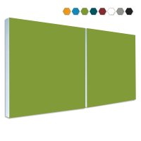 2 Basotect ® G+ Schallabsorber Akustik Schalldämmung je 55x55cm (Hellgrün)