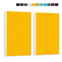 2 Basotect ® G+ Schallabsorber Wandbild Akustik Schalldämmung je 82,5x55cm (Sonnengelb)