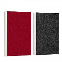 Basotect ® G+ Schallabsorber - 2 x Wandbild 82,5x55 cm Akustik Element Schalldämmung (Petrol + Schwarz)