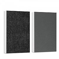 Basotect ® G+ Schallabsorber - 2 x Wandbild 82,5x55 cm Akustik Element Schalldämmung (Hellgrün + Schwarz)