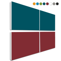 Basotect ® G+ Schallabsorber - 4 x Wandbild 82,5x55 cm Akustik Element Schalldämmung (MIX Set 02)