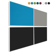 Basotect ® G+ Schallabsorber - 4 x Wandbild 82,5x55 cm Akustik Element Schalldämmung (MIX Set 09)