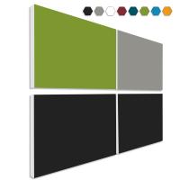 Basotect ® G+ Schallabsorber - 4 x Wandbild 82,5x55 cm Akustik Element Schalldämmung (MIX Set 10)