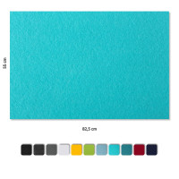 Basotect ® G+ Schallabsorber 4 x Wandbild Akustik Schalldämmung 82,5x55cm (Türkis)