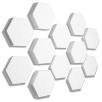 12x Basotect ® B WEISS 3D - Absorber Akustik Schallabsorption Breitbandabsorber Set #06