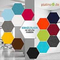 6 Absorber Wabenform Basotect ® G+ je 300 x 300 x 50mm Colore NACHTBLAU, SONNENGELB und BORDEAUX