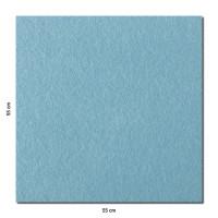 Schallabsorber Colore aus Basotect ® G+ / Akustik Schalldämmung 55x55cm (Hellblau)