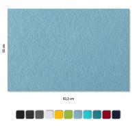 Schallabsorber aus Basotect ® G+ / 4 x Wandbild Akustik Schalldämmung 82,5x55cm (Hellblau)