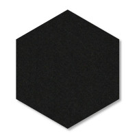 6 Absorber Wabenform aus Basotect ® G+ / Colore TÜRKIS + SCHWARZ / je 2 Stück 300 x 300 x 30/50/70mm