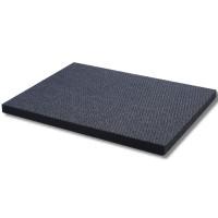5 Polyester-Dämmvlies-Matten je 500 x 400 x 10 mm - RG: ca. 50kg/m³ - schwarz