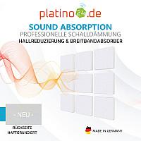 Wandbild Quadrate 9-tlg. Schalldämmung, WEISS - Schallabsorber - Elemente aus Basotect ® G+