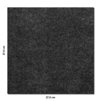 Wandbild Quadrate 6-tlg. Schalldämmung, ANTHRAZIT - Schallabsorber - Elemente aus Basotect ® G+