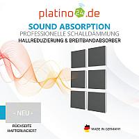 Wandbild Quadrate 6-tlg. Schalldämmung, GRANITGRAU - Schallabsorber - Elemente aus Basotect ® G+