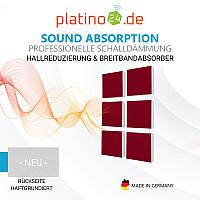 Wandbild Quadrate 6-tlg. Schalldämmung, BORDEAUX - Schallabsorber - Elemente aus Basotect ® G+