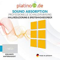Wandbild Quadrate 6-tlg. Schalldämmung, SONNENGELB - Schallabsorber - Elemente aus Basotect ® G+