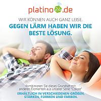 Wandbild Quadrate 4-tlg. Schalldämmung, WEISS - Schallabsorber - Elemente aus Basotect ® G+