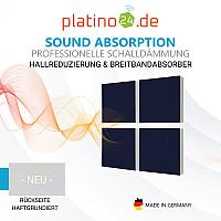 Wandbild Quadrate 4-tlg. Schalldämmung, NACHTBLAU - Schallabsorber - Elemente aus Basotect ® G+