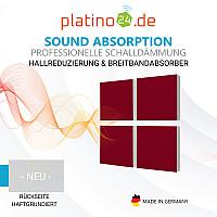 Wandbild Quadrate 4-tlg. Schalldämmung, BORDEAUX - Schallabsorber - Elemente aus Basotect ® G+