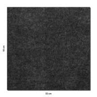 Wandbild Quadrate 6-tlg. Schalldämmung aus Basotect ® G+ / Schallabsorber - Elemente - SET 02