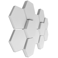 12 Absorber Wabenform aus Basotect ® G+ / je 4 Stück 300 x 300 x 30/50/70mm