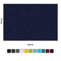 Schallabsorber-Set Colore aus Basotect G+ < 3 Elemente > Nachtblau+ Hellgrün