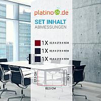 Schallabsorber-Set Colore aus Basotect G+ < 3 Elemente > Nachtblau + Bordeaux