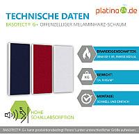 Schallabsorber-Set Colore aus Basotect G+ < 3 Elemente > Nachtblau + Bordeaux + Weiß