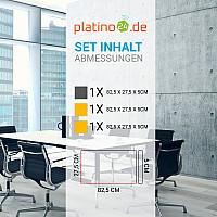 Schallabsorber-Set Colore aus Basotect G+ < 3 Elemente > Granitgrau + Sonnengelb