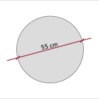 1 Akustik Schallabsorber aus Basotect ® G+ / Kreis 55 cm (Granitgrau)