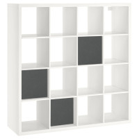 Schallabsorber aus Basotect ® G+ / Regaleinsatz passend z.B. für IKEA KALLAX oder EXPEDIT - Granitgrau